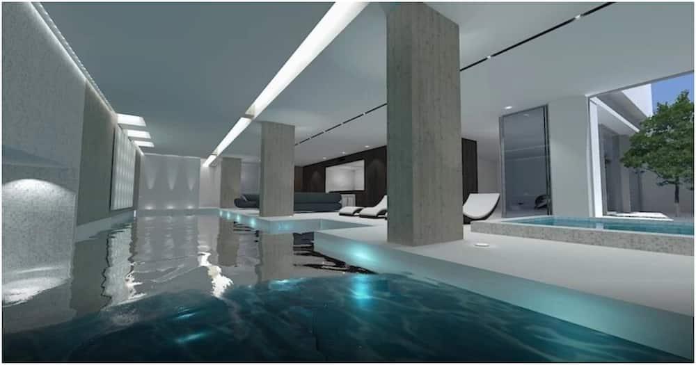 , Football: Découvrez l'intérieur du nouveau manoir luxueux d'Aubameyang avec piscine intérieure et bar