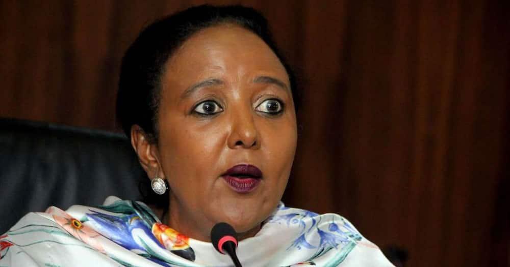 Sports CS Amina Mohamed's husband Khalid Ahmed died at a Nairobi hospital.