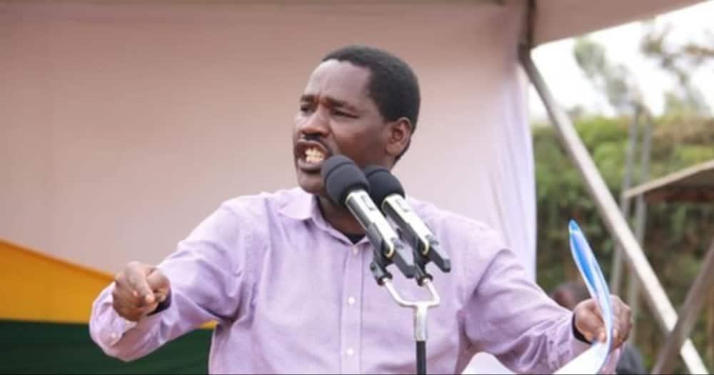 Peter Munya says wheelbarrow narrative to wash wash business.