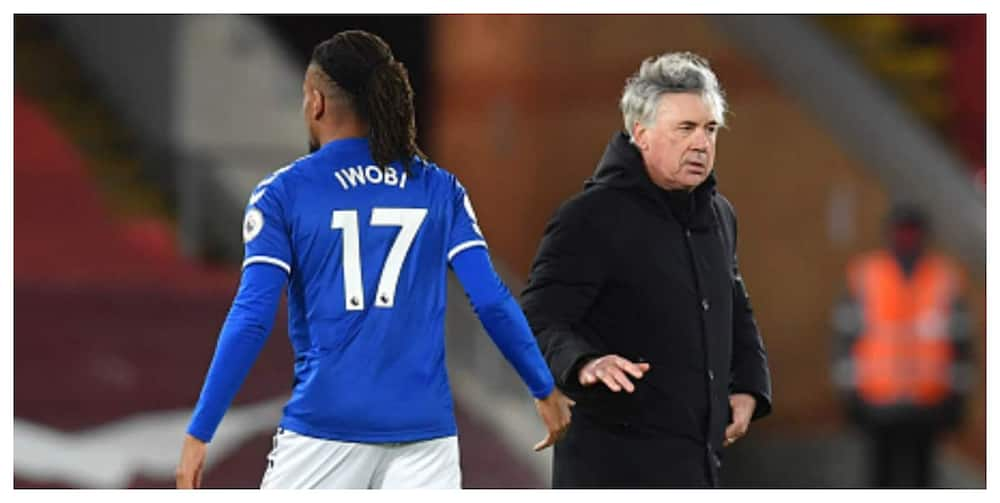 Iwobi in trouble as Everton boss Ancelotti questions his social media post