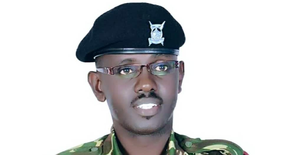 Police officer Sammy Ondimu tells colleagues to be professional.