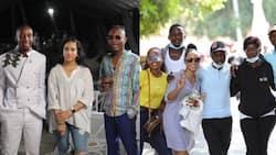 Rashid Abdalla, Lulu Hassan treat Maria's cast to fancy all-white beach party