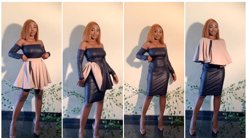 Again, Nigerian tailor wows many with dress that can be worn in 5 different ways