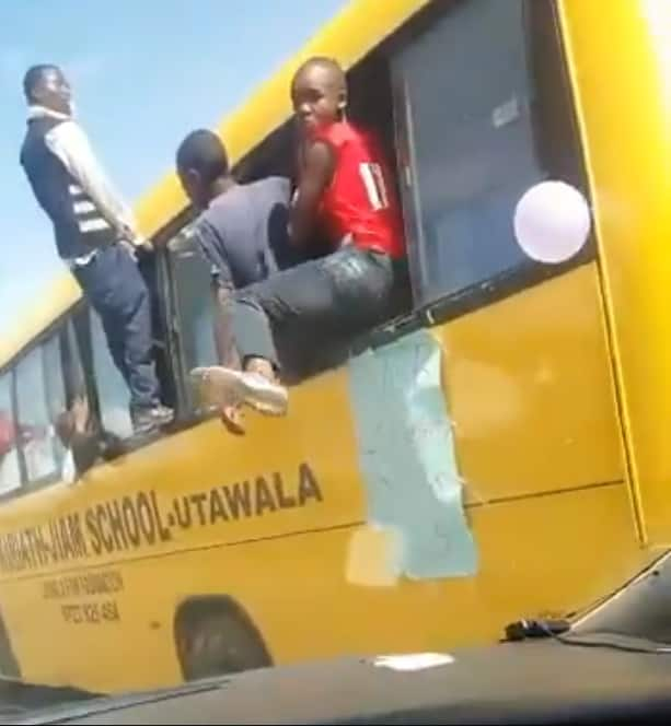 Disturbing video of school bus flouting Michuki laws in KCPE celebrations angers Kenyans