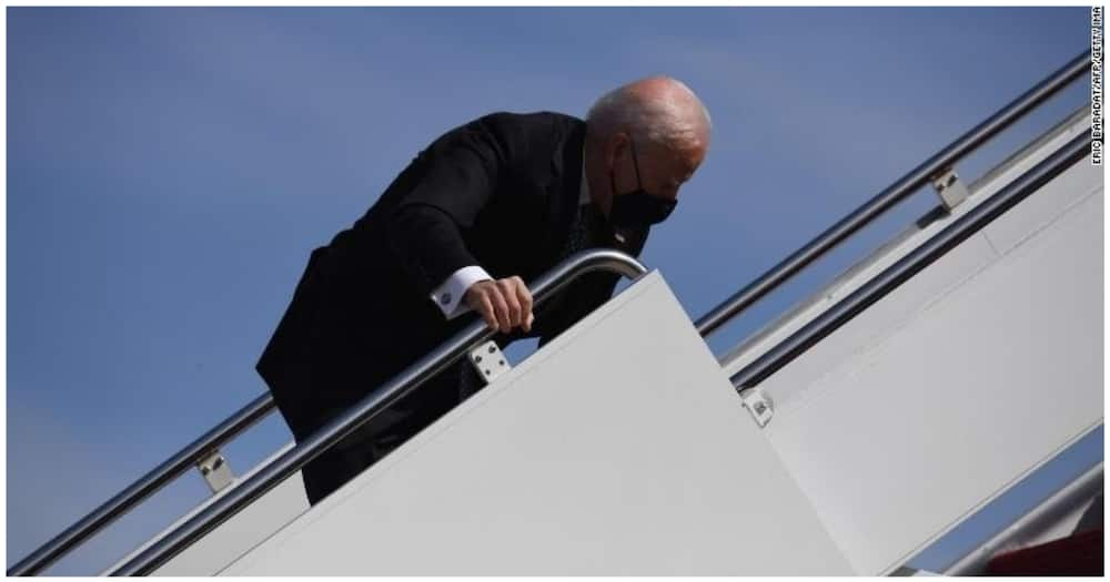 White House Clarifies Joe Biden Doing Fine after He Stumbled Twice While Boarding Air Force One