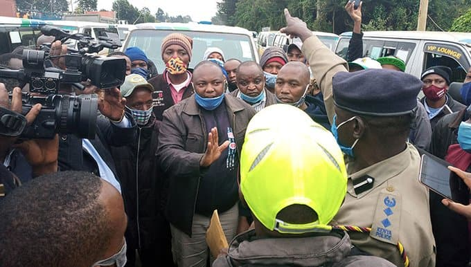 No pass: Limuru residents protesting against roadblocks stop Fred Matiangi's convoy