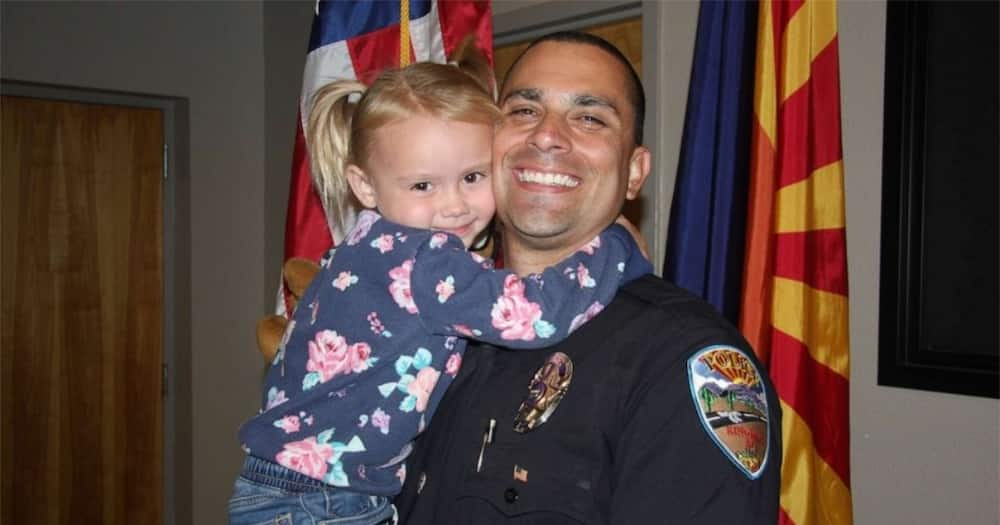 Police officer adopts 4-year-old girl he rescued from abusive parents