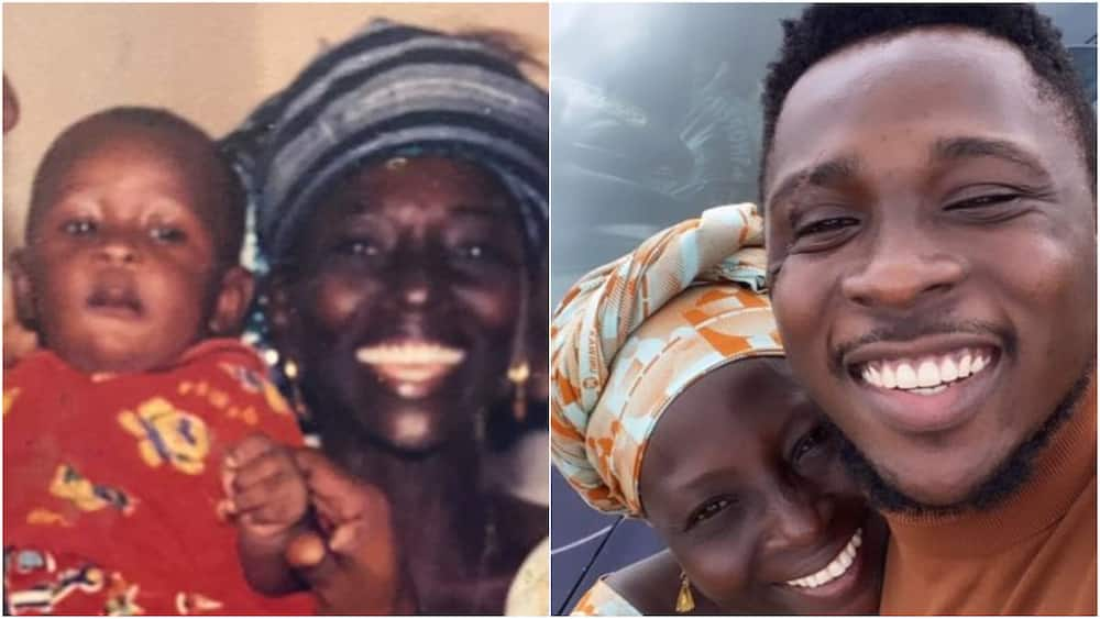 A collage showing the mother and son. Photo source: @thekashope
