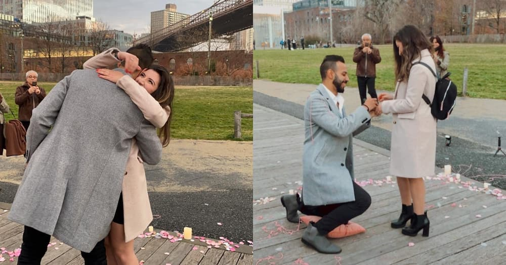 A woman got engaged to her Twitter bae