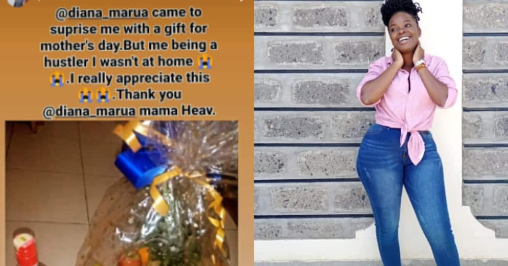 Diana Marua surprises Bahati's baby mama Yvette with fruit basket and bottle of wine on Mother's Day