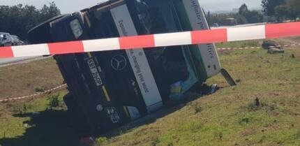 Motorists cautioned as fuel tanker overturns in Nakuru, spills oil on road