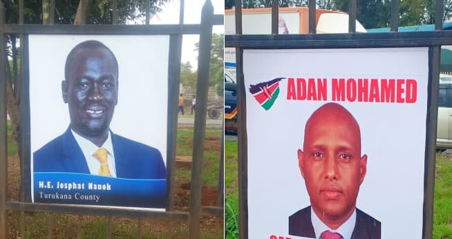 Shame of error-laden posters by Mike Sonko along Mombasa road during Blue Economy