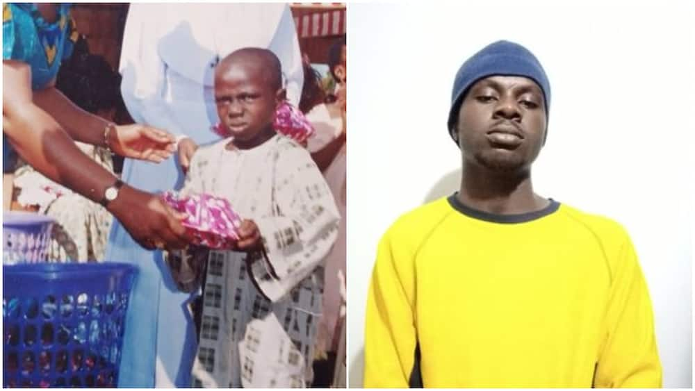 Young man whose childhood photo became popular meme speaks, reveals his identity