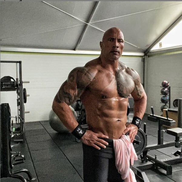 The Rock: Dwayne Johnson shows off ripped body after workout