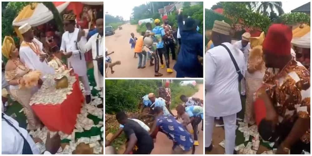 Drama at wedding as groom's friend steal show, throw money into the bush.