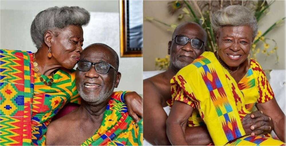 PHOTOS: Couple celebrates their 53rd marriage anniversary in perfect regal kente attires