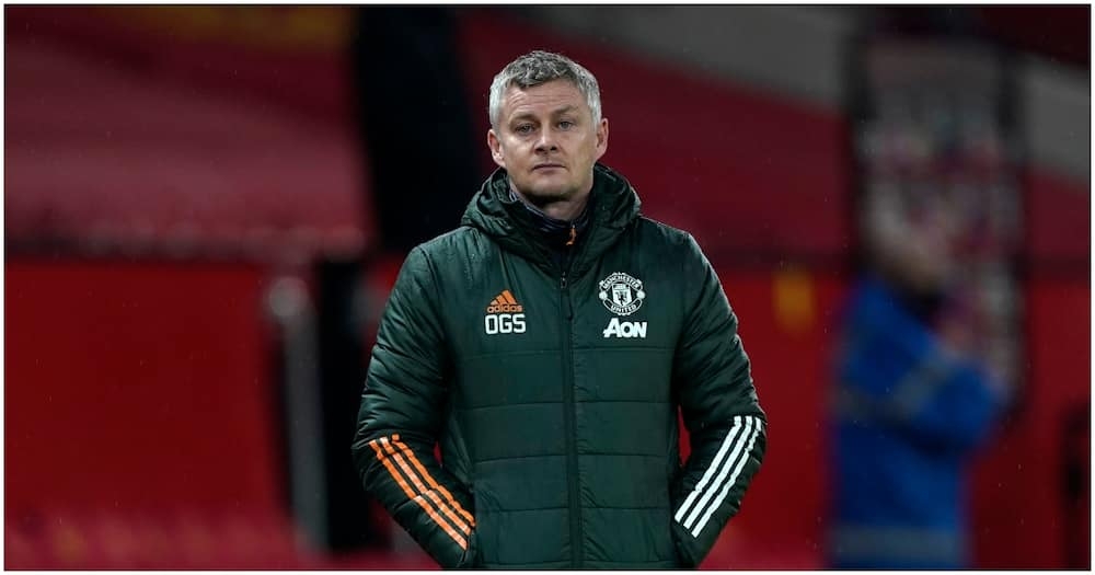 Solskjaer looks on during a previous Man United match. Photo: Getty Images.