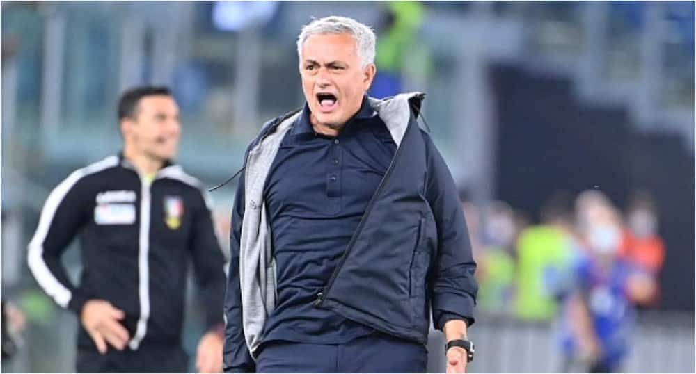Mourinho aims dig at referee after Roma struggled to to beat Udinese in Serie A