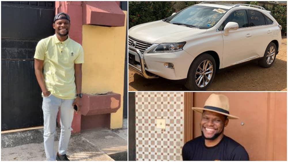 Nigerian man buys Lexus, cries in joy as he drives car home