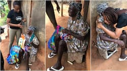 Kind Lady Gifts Blind Woman New Lamp She Requested During Mosquito Net Distribution Drive