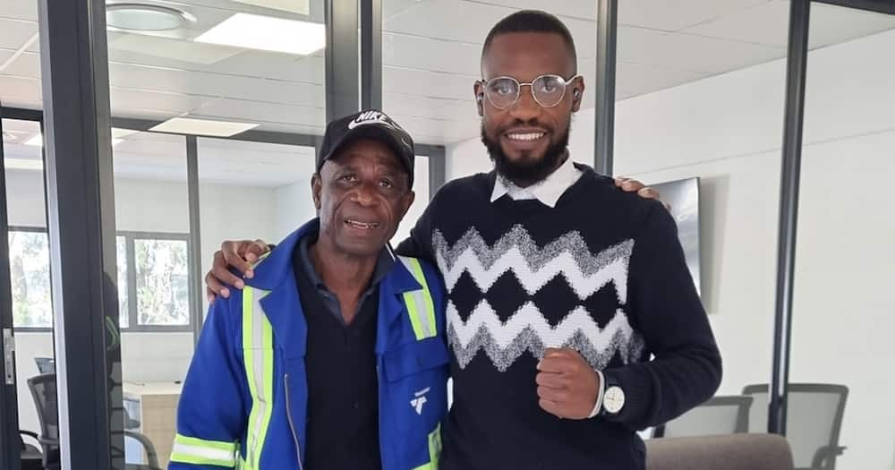 Talifhani Banks: Entrepreneur Overjoyed after Employing Dad In His Company