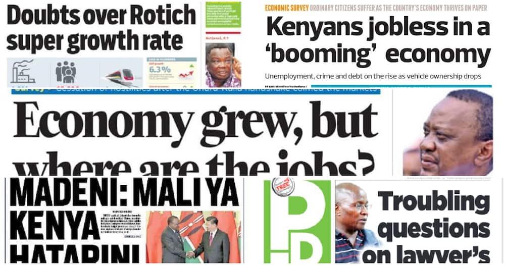 Kenyan newspapers review for April 26: Formal jobs drop