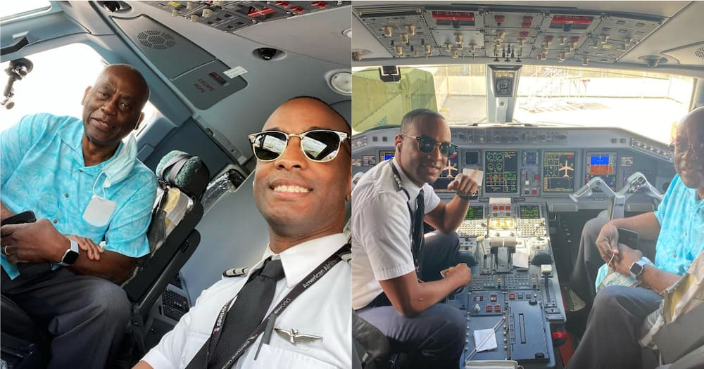 """Pilot Sheds Tears of Joy After First Commercial Flight with His Father: """"Dad, I'm Thankful"""""""