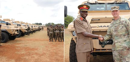 United States gifts KDF 12 amoured vehicles