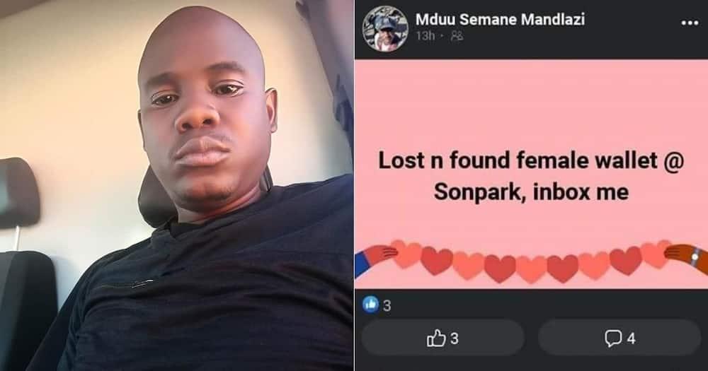 Honest man returns lady's lost wallet with money still inside