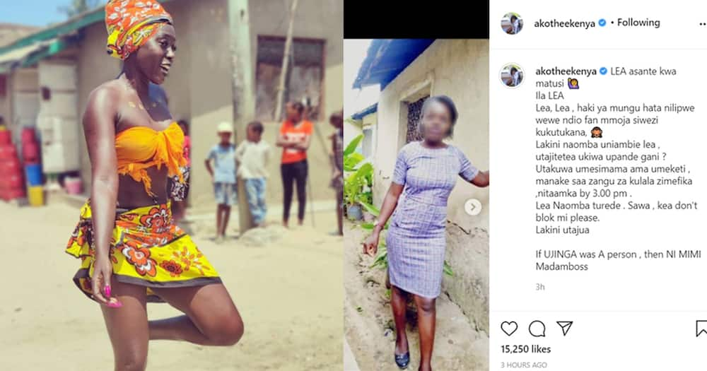 """Akothee Exposes Woman Who Insulted Her, Shares Her Photos: """"Thank You for The Abuses"""""""