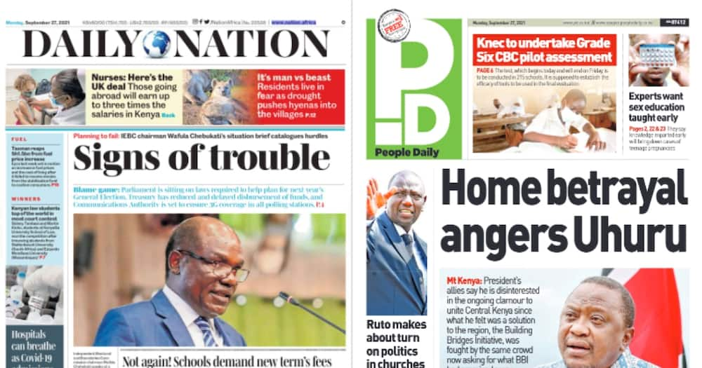 President Uhuru Kenyatta is not happy with Mt Kenya politicians who opposed BBI and moved to support his deputy.