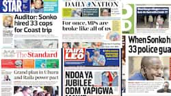 Newspapers Review: Mike Sonko Hired 33 Police Guards during a 3-Week Visit to the Coast