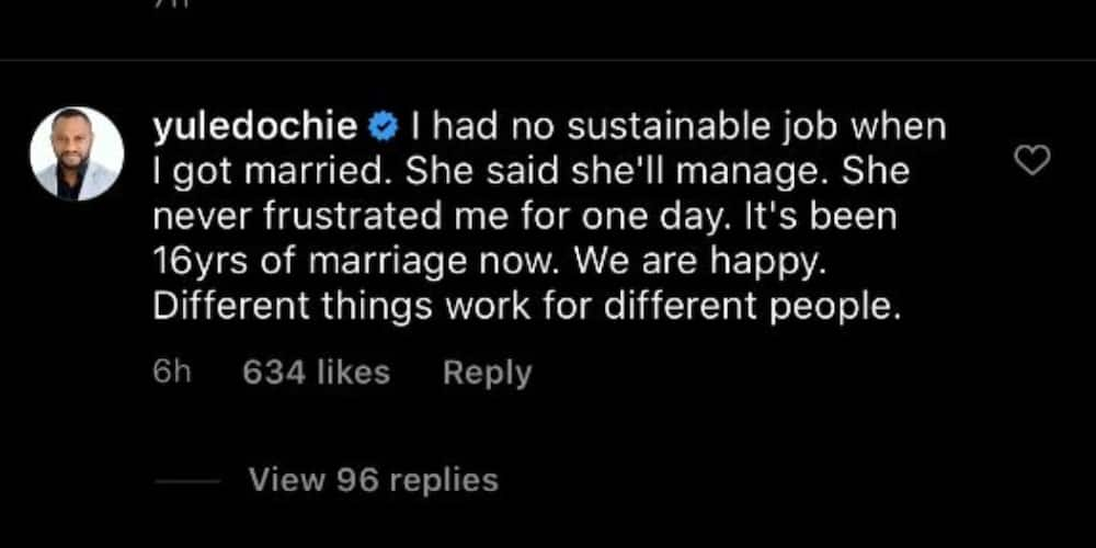 Veteran actor Yul Edochie says he had no job when he got married