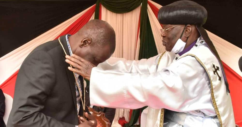 Bishop who claimed King Solomon killed Goliath decry low payment during visit to Ruto's home