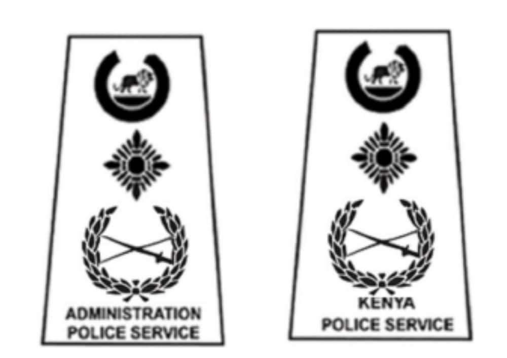 Kenya police ranks and badges from lowest to highest