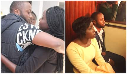 Jacque Maribe, detained lover Jowi share warm embrace on her birthday