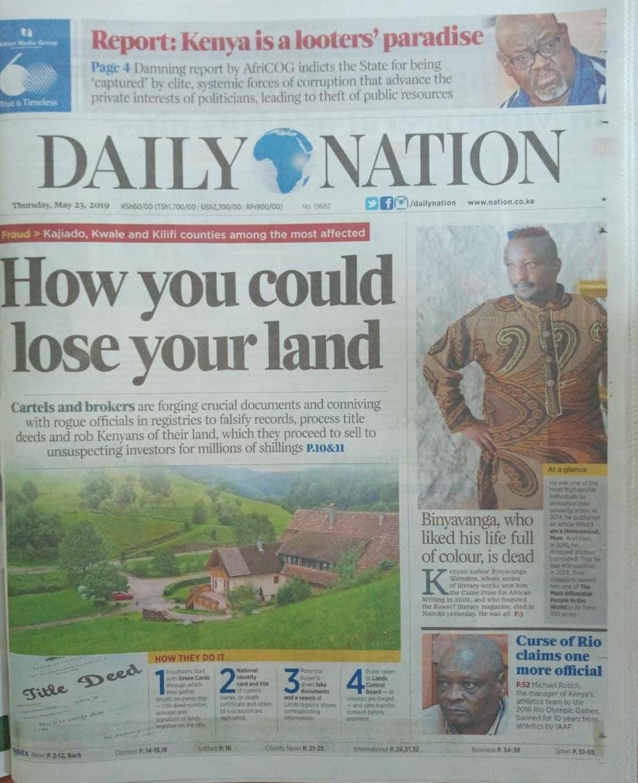 Magezeti ya Kenya Alhamisi, Mei 23: Ruto awaamuru wafuasi wake kutupilia mbali mswada wa kumngatua Matiang'i