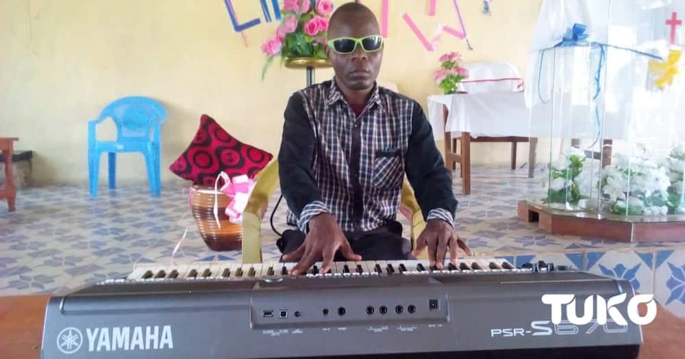 Blind Vihiga pianist defies odds, finds niche in entertaining locals