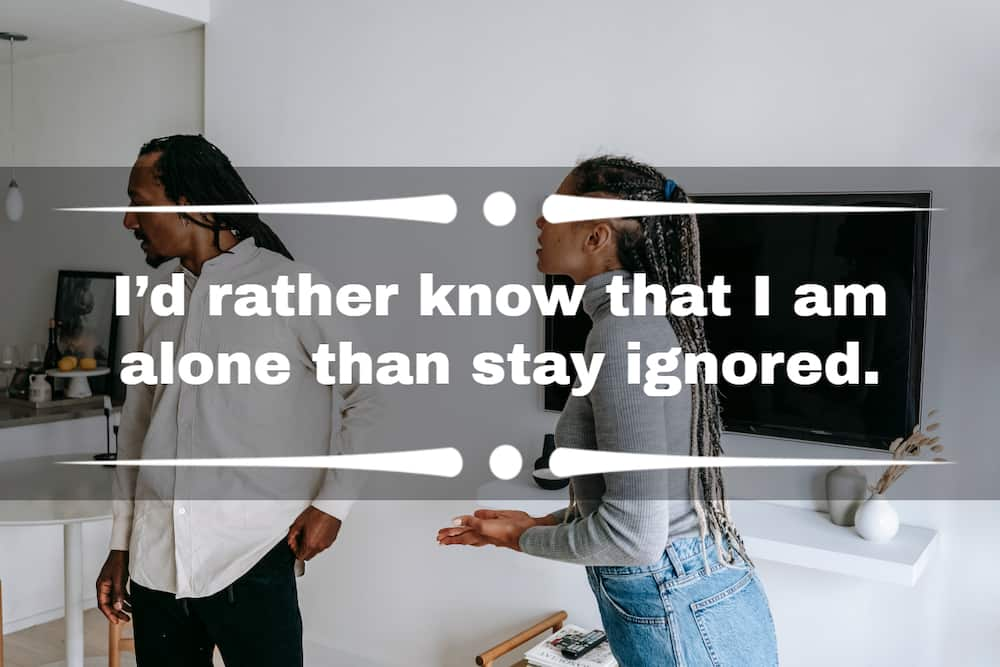 quotes about being ignored