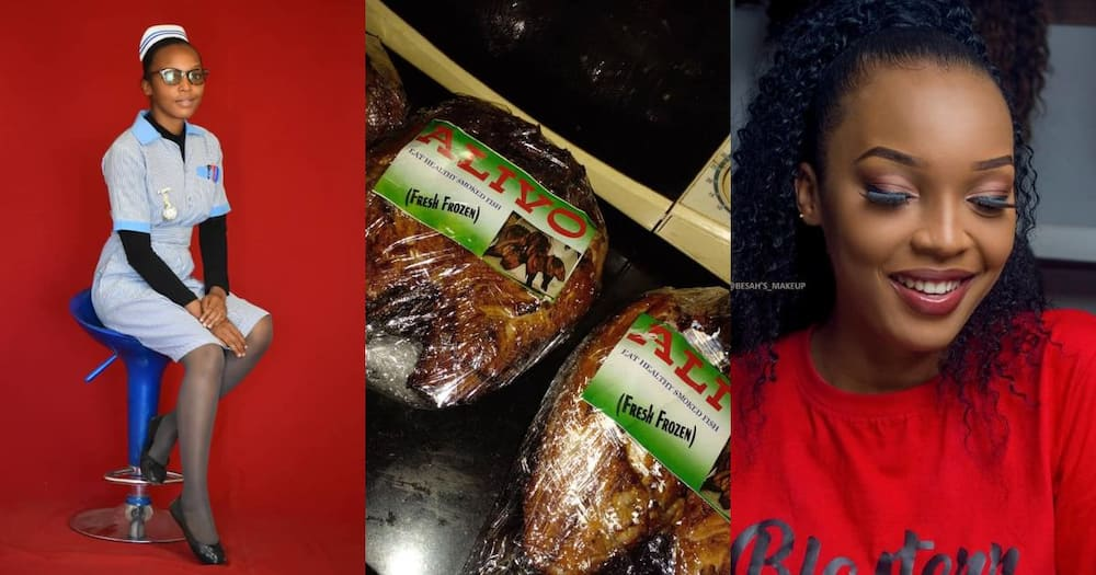 Alice Lance, 22, nursing student at Mufulira College of Nursing owns a company dealing in smoked fish, chicken.