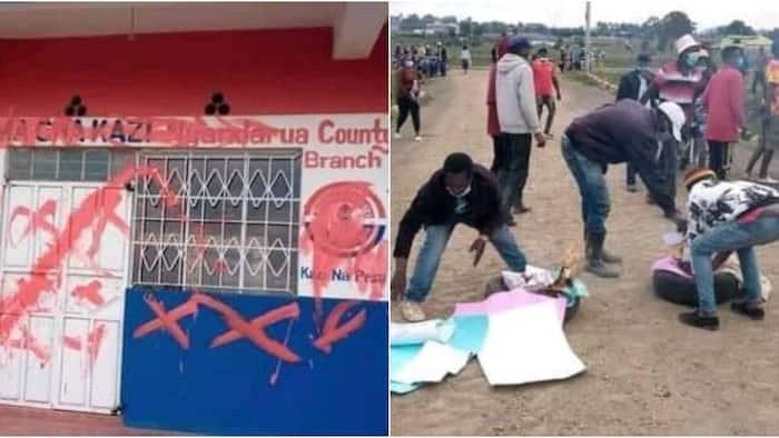 Vijana Waharibu Afisi za Chama cha Moses Kuria Nyandarua