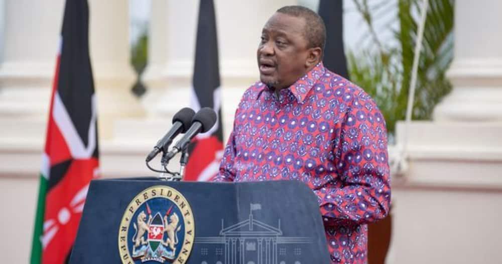 President Uhuru Kenyatta addressing the nation on June 29 at State House, Nairobi.