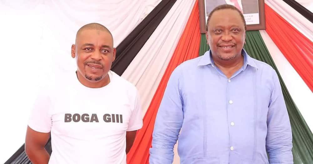 President Uhuru Kenyatta (r), Idd Boga (l) Photo: ODM Party.