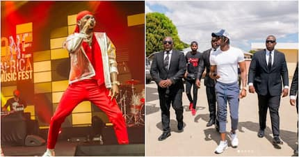 Diamond Platnumz falls off stage while performing, left shaken