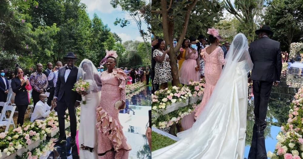 June Ruto Majestically Arrives at Wedding Venue Moments Before Marrying Nigerian Lover
