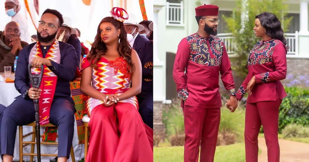 Muthoni Wa Mukiri and her fiancé.