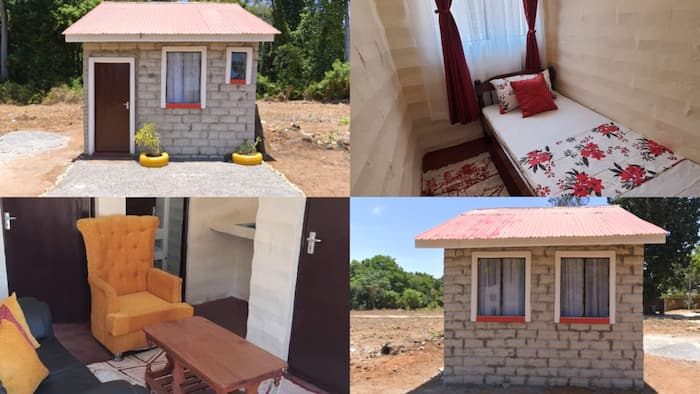 Kenyans amused by tiny KSh 500k home that has 2 bedrooms, all amenities intact