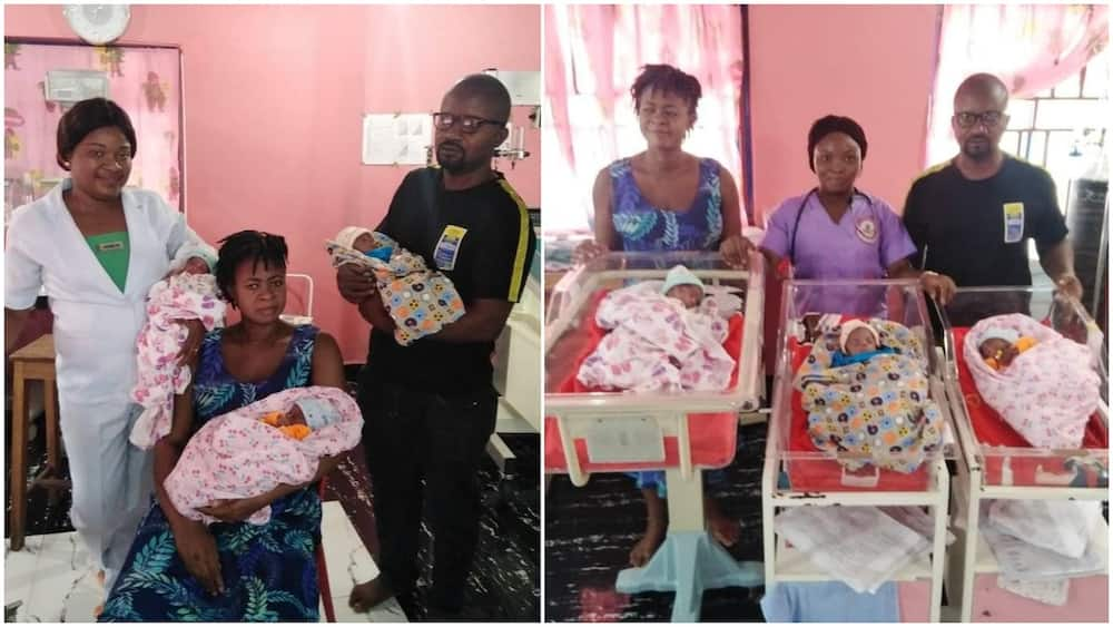 After 11 years of marriage, woman gives birth to triplets in Beyelsa, tells wives to only trust God