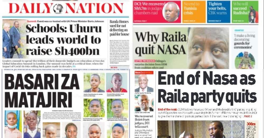 Kenyan Newspapers Review: Caroline Kangogo Buried in Her Wedding Dress, Family Calls for Speedy Probe