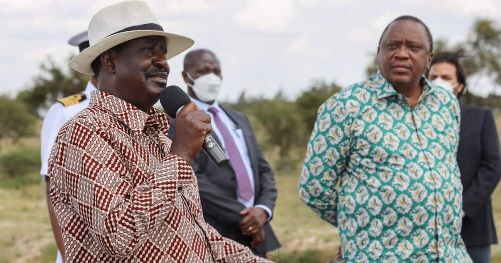 Raila joins Uhuru to Inspect Gov't Projects in Nairobi Amid Fallout Rumours